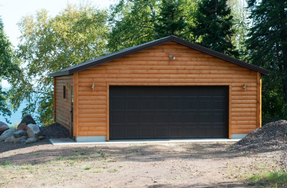 Lakeside Log 2 Car Garage